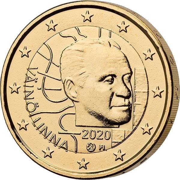2 Euro Finnland 10. Geburtstag von Vaino Linna 2020 vollvergoldet