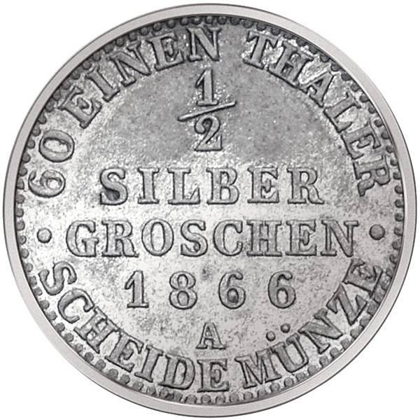 1/2 Groschen Preußen Wilhelm I.