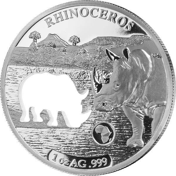 250 Francs Dschibuti Rhinozeros 2018