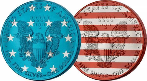 2 x 1 Dollar USA Eagle/Liberty 2020