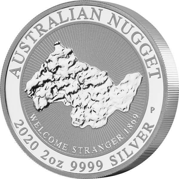 2 Unzen Silber Australien Australischer Nugget 2020
