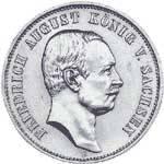 5 Mark Sachsen Friedrich August III. 1907-1914 Sehr schön