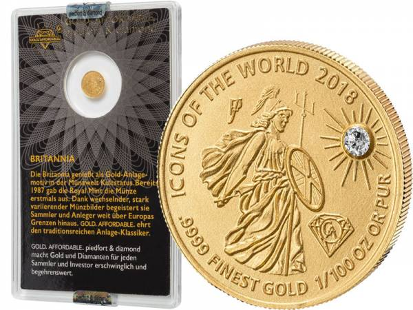 10 Francs Ruanda Gold Affordable Diamond Edition Britannia 2018