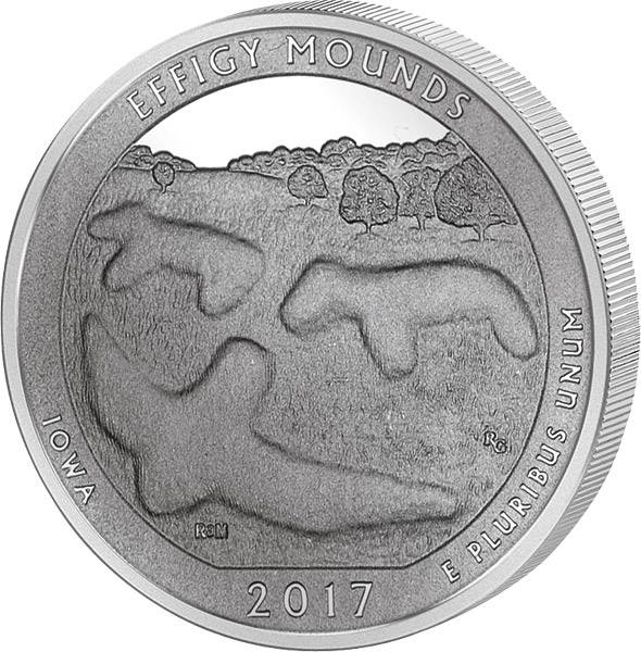 25 Cents USA Iowa Effigy Mounds National Monument 2017