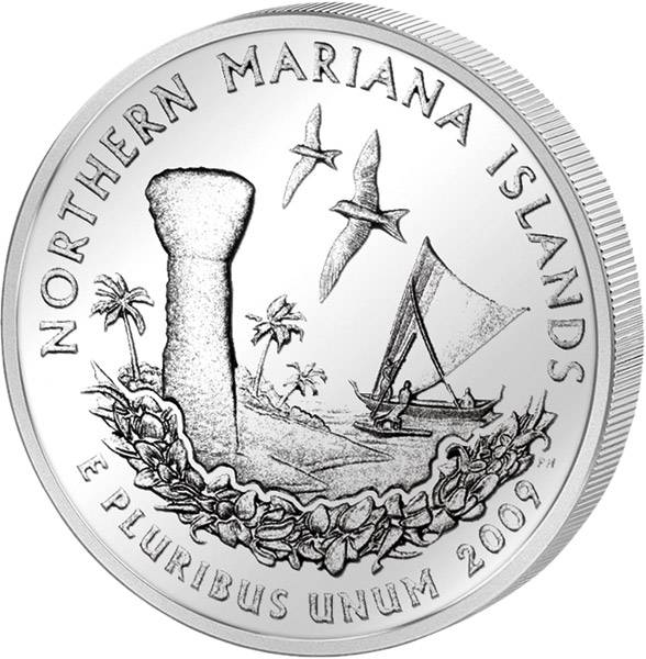 Quarter Dollar USA Northern Mariana Islands 2009