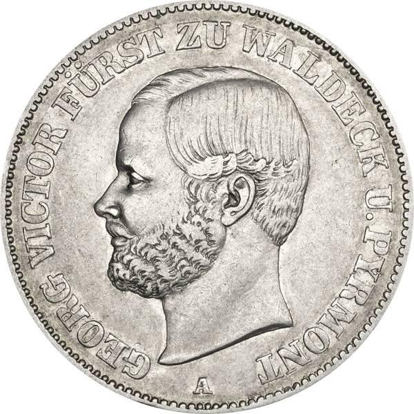 Vereinstaler Waldeck-Pyrmont Fürst Georg Victor 1859/67