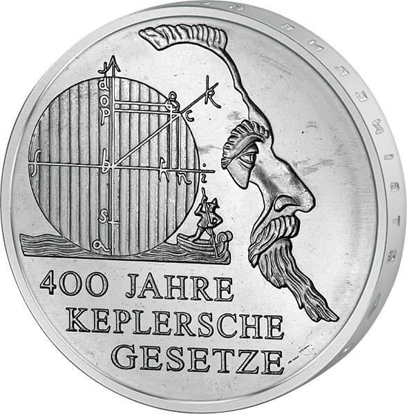 10 Euro BRD 400 Jahre Keplersche Gesetze 2009