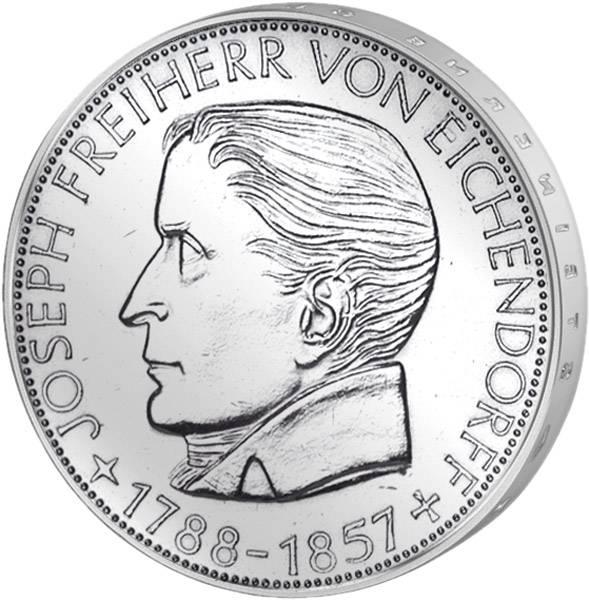 5 DM Münze BRD Joseph Freiherr von Eichendorff 1957