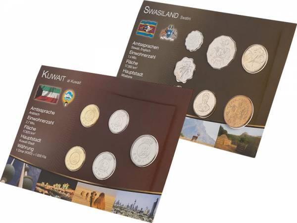 Premium-Kursmünzen-Set Kuwait und Swasiland