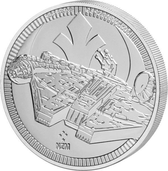 1 Unze Silber Niue Star Wars Millennium Falke 2021