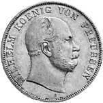 Vereinsdoppeltaler Preußen Wilhelm I. Silber 1865-1871 vz-st