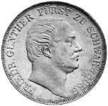 Taler Vereinstaler Friedrich Günther 1866 Sehr schön