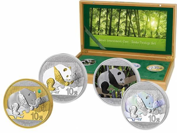 Silver Investment Coin Prestige-Set Panda 2016 Stempelglanz