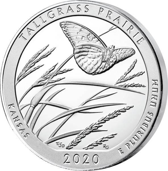 5 Unzen Silber Kansas Tallgrass Prairie National Preserve Quarter