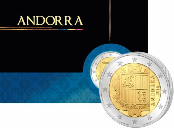2 Euro Andorra Kursmünze 2015 prägefrisch