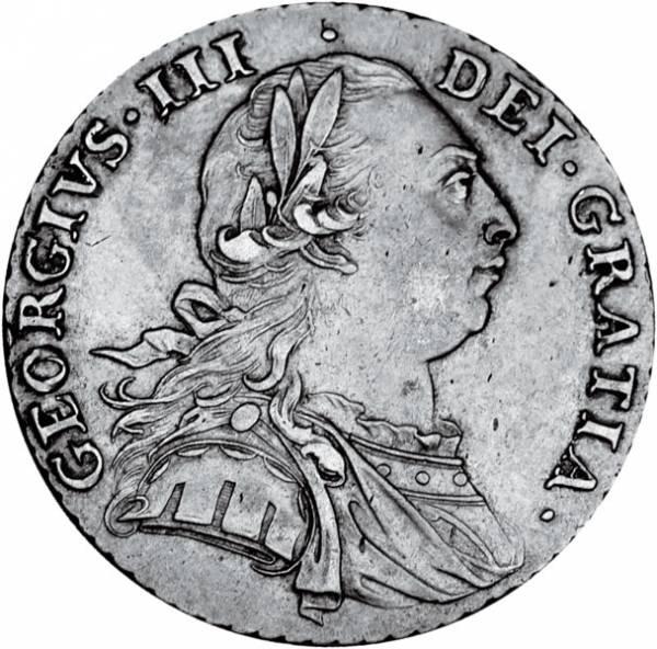 Shilling Großbritannien König Georg III. 1787