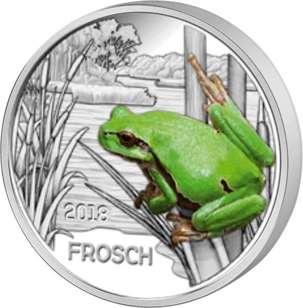3 Euro Österreich Tier-Taler Frosch 2018
