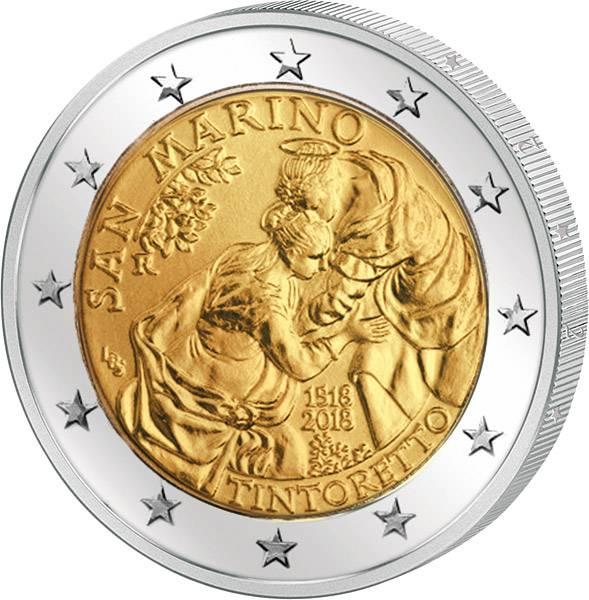 2 Euro San Marino 500. Geburtstag Jacopo Tintoretto 2018