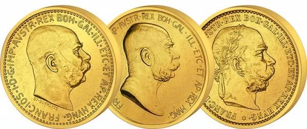 3 x 10 Kronen Österreich Kaiser Franz Joseph I. 1892-1912