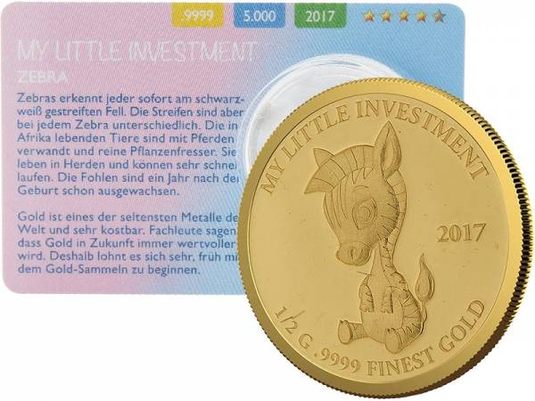 10 Dollars Salomonen My Little Investment Zebra 2017