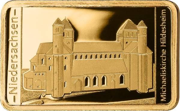 0,5 Gramm Goldbarren Niedersachsen Michaeliskirche