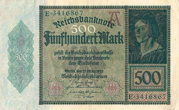 500 Mark Junker-Banknote