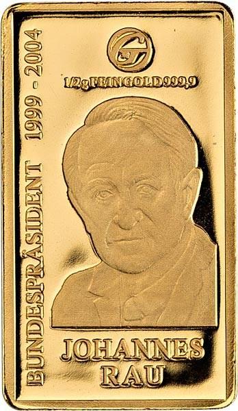 Goldbarren Johannes Rau