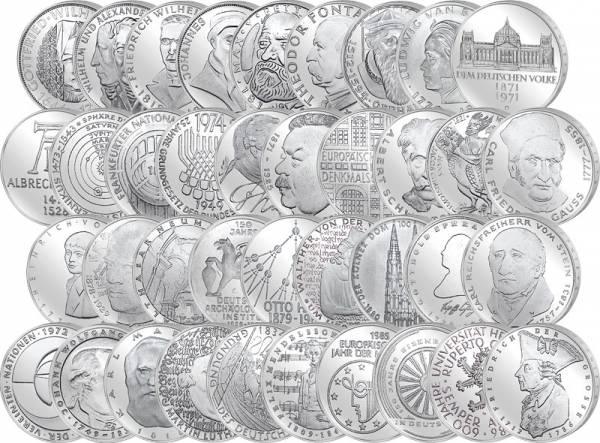 38 x 5 DM BRD Komplett-Sammlung 1966-1986 Stempelglanz