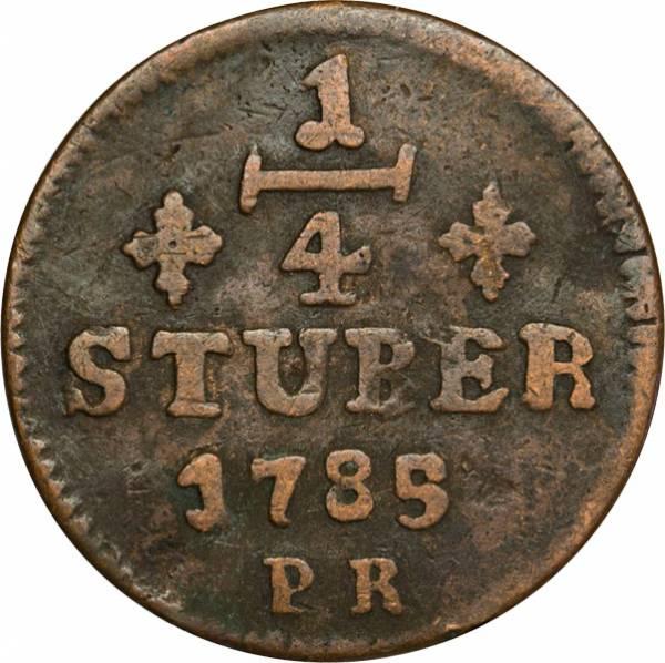 ¼ Stüber Jülich-Berg Herzog Karl IV. Theodor 1765-1794