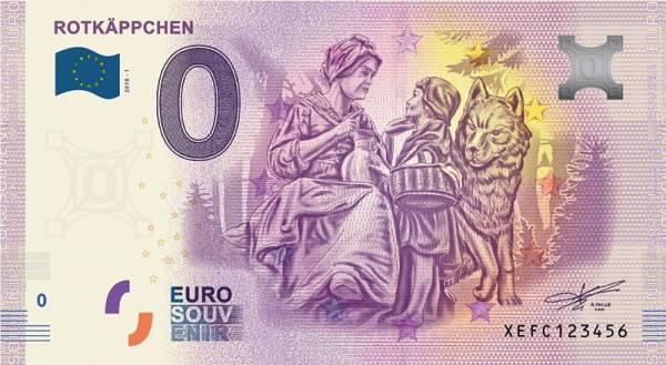 0-Euro-Banknote Rotkäppchen 2019
