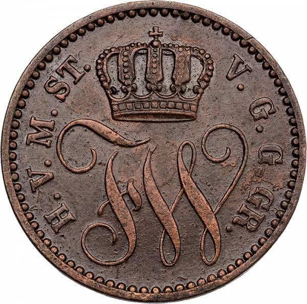 3 Pfennige Mecklenburg Strelitz Friedrich Wilhelm 1864