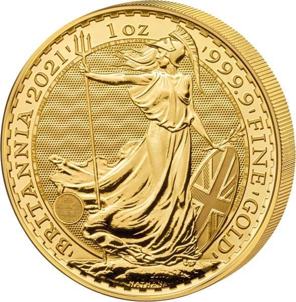 1/10 Unze Gold Großbritannien Britannia 2021