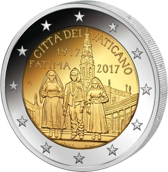 2 Euro Vatikan Erscheinungen Fatima 2017