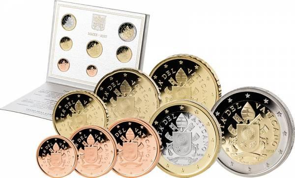 Euro-Kursmünzensatz Vatikan 2020 Ersttags-Edition