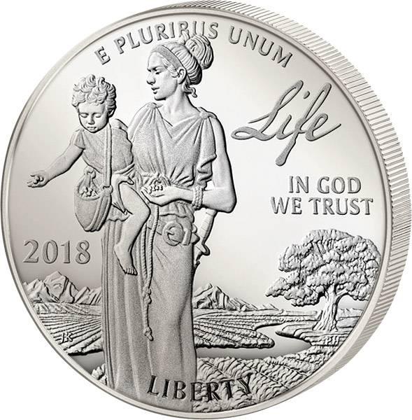 1 Unze Platin USA Eagle Unabhängigkeitserklärung 2018