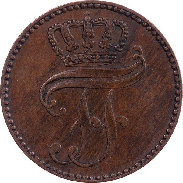 3 Pfennige Mecklenburg-Schwerin Großherzog Freidrich Franz II 1852-1864