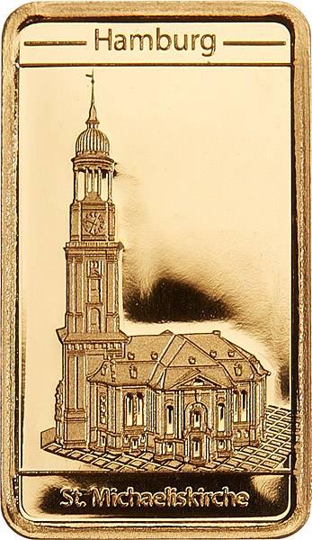 Goldbarren Hamburg Sankt Michaelis Kirche