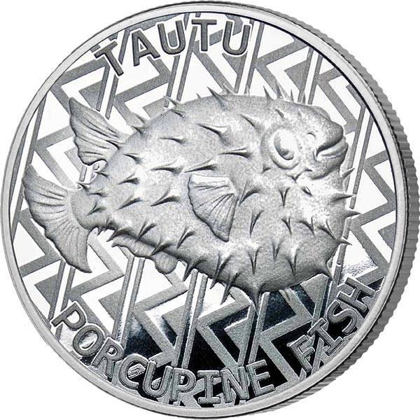1 Unze Silber Tokelau Kugelfisch 2021