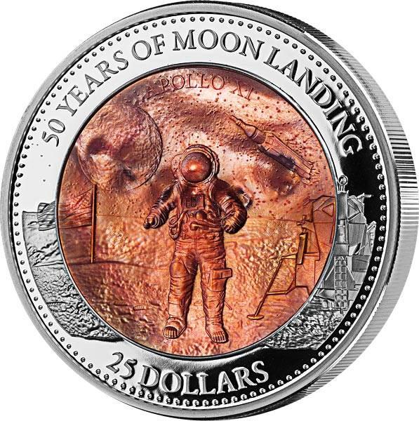 25 Dollars Salomonen 50 Jahre Mondlandung 2019