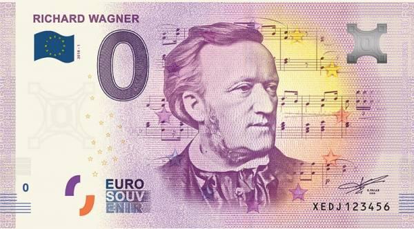 0-Euro-Banknote Richard Wagner 2018