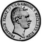 2 Mark Mecklenburg Schwerin Friedrich Franz IV. 1901 ss-vz