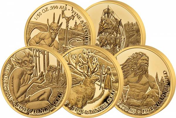 5 x 10 Dollars Donausagen 2021