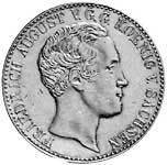 Taler Ausbeutekonventionstaler Friedrich August 1837-1838 Vorzüglich