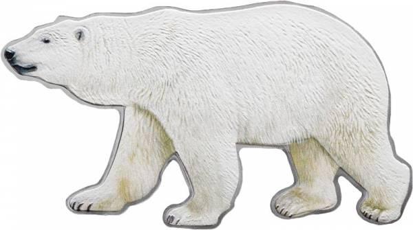100 Gramm Kanada Polarbär Shape Coin 2017