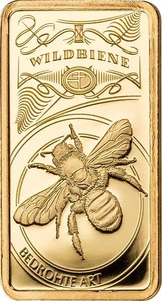 Goldbarren Bedrohte deutsche Tierarten Wildbiene