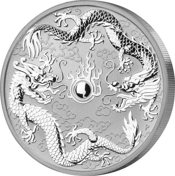 1 Unze Silber Australien Drachen 2019