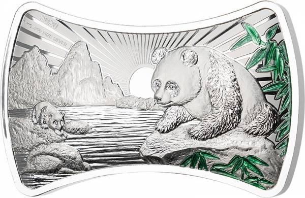 1 Kilo Silber Fidschi Bone Shape Panda 2020