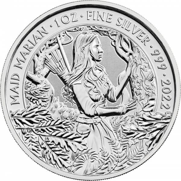 1 Unze Silber Großbritannien Maid Marian 2022