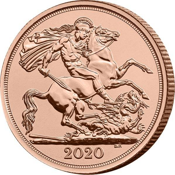 1 Sovereign Großbritannien Queen Elizabeth II. 2020