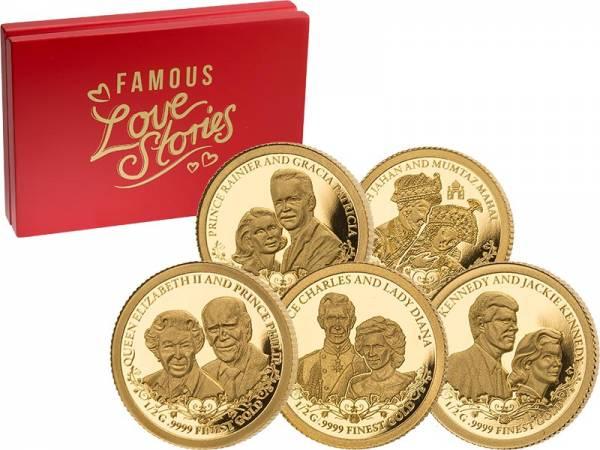 5 x 100 Francs Elfenbeinküste Berühmte Liebesgeschichten 2020
